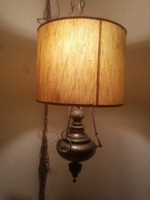 1970's Stiffel Two Bulb Hanging Lamp