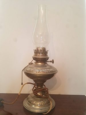 Silver Electrified Oil Lamp