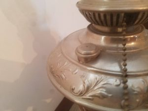 Silver Electrified Oil Lamp
