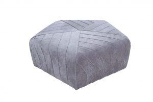 Diamond Castered Ottoman – Grey
