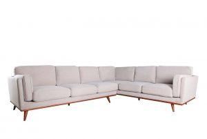 Camden RAF Single Arm Corner Sofa – Cloud