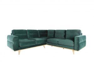Leonardo Single Arm Corner Sofa - Dark Forest
