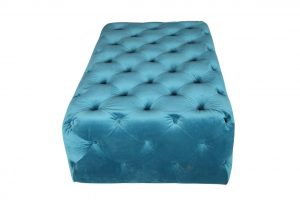 Chester Castered Ottoman - Teal