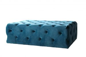 Chester Castered Ottoman – Teal